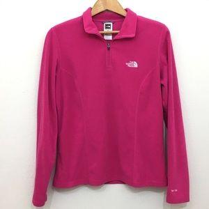 The North Face fleece pullover 1/4 zip pink sz M